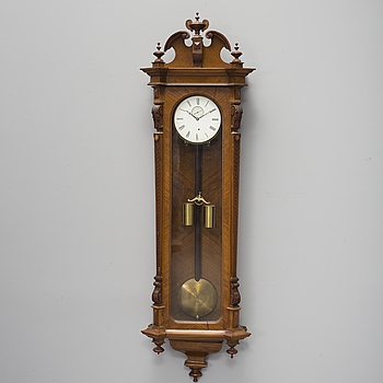 "A late 19th century wall clock, dial marked ""O. Holmberg Stockholm""."