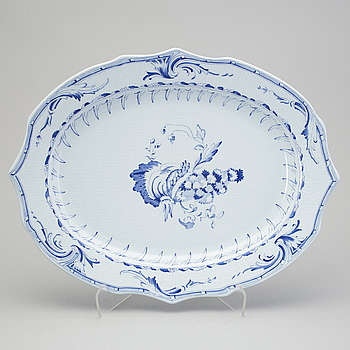A blue and white jubilee serving dish by Rörstrand, numberd 1203/1800.