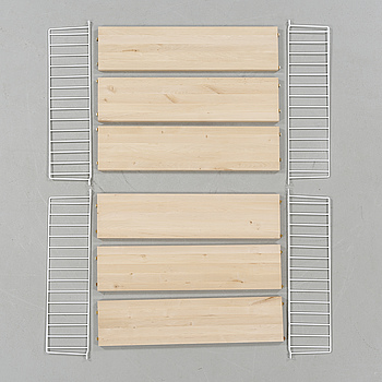 """A pair of """"String"""" shelves by Nils Strinning, 21th century."""