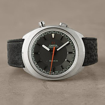 1. OMEGA, Genève, Chronostop, armbandsur, 35 x 39,5 mm,
