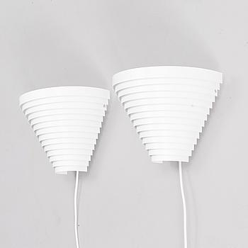 ALVAR AALTO, ALVAR AALTO, TWO WALL LAMPS, A190. Artek.