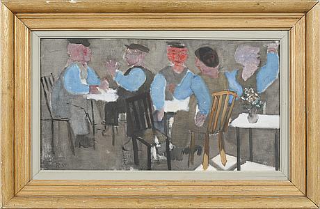 "Ragnar sandberg, ""på restaurang"" (at the restaurant)."