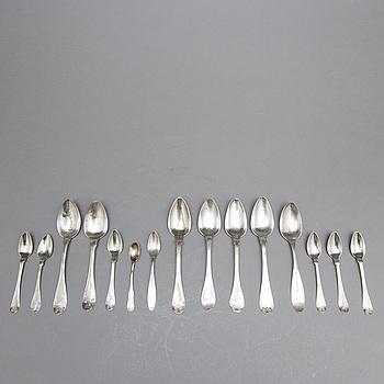 SKEDAR, 15 st, silver, div. mästare mestadels 1800-tal.