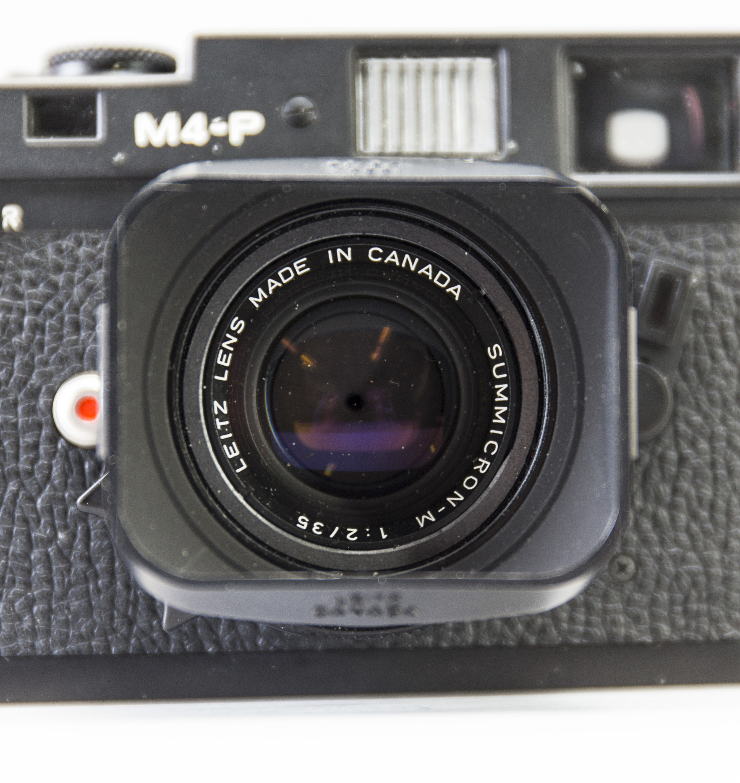 a black body Leica M4-P camera with no 1605951 made by Leitz