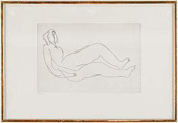 JEAN FAUTRIER, etching signed Fautrier and numbered 14/50, executed in 1944.