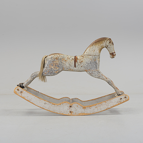 A painted rocking horse second half of the 19th century