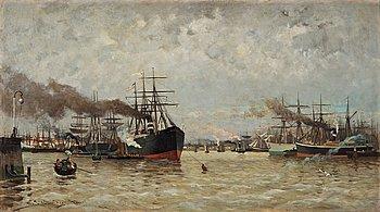 "151. Carl Skånberg, ""Hamnen i Rotterdam"" (The Harbour in Rotterdam)."