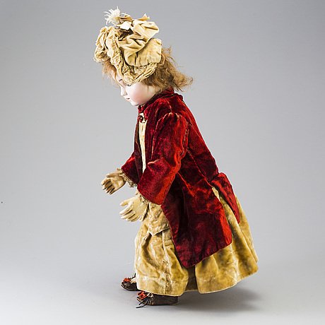 A bisque head doll by jules steiner, france, late 19th century