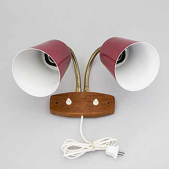 A wall light from the middle of the 20th century.