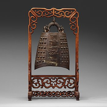 293. TEMPELKLOCKA, brons. Mingdynastin (1368-1644).