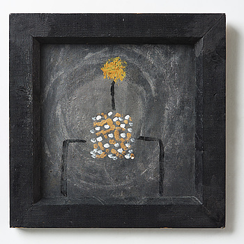 ELIS ERIKSSON, painting on canvas mounted to panel signed and dated -92 on verso.