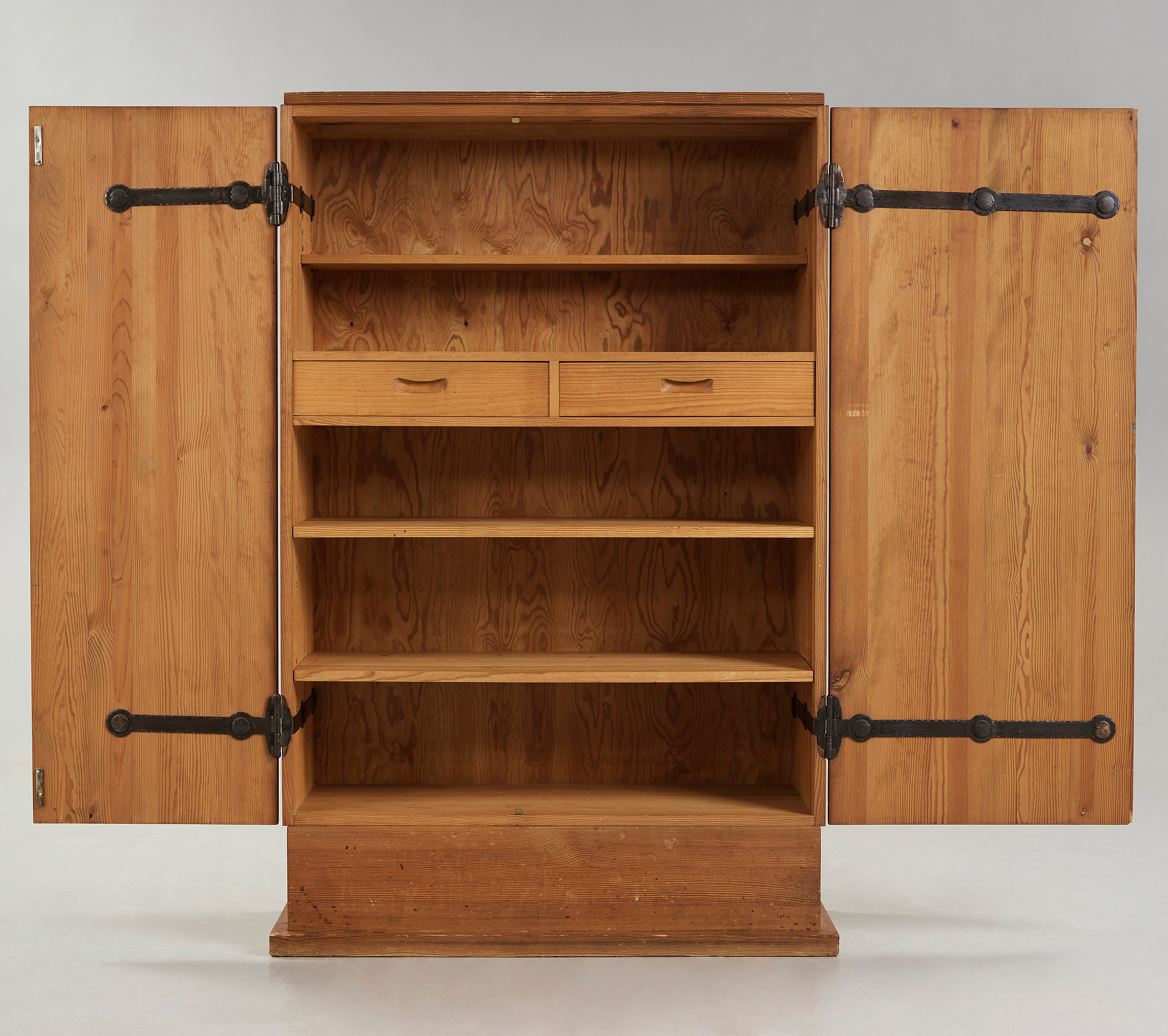 Stained Pine Kitchen Cabinets: An Axel Einar Hjorth 'Lovö' Stained Pine Cabinet, Nordiska