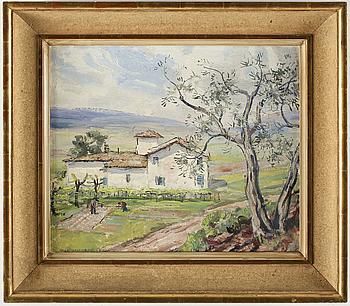 OLLE HJORTZBERG, OLLE HJORTZBERG, oil on canvas, signed and date -59.