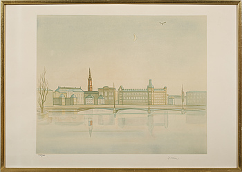 EINAR JOLIN, EINAR JOLIN, litograph in colour, signed and numbered 148/360.