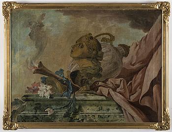 SVENSK KONSTNÄR 1700-TAL , Panel, Oil on canvas relined on paper 71 x 93 cm.