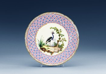 A Sèvres dinner plate, 18th Century. Dated LL for 1788. Diameter 24,5 cm.