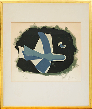GEORGES BRAQUE, GEORGES BRAQUE, LITHOGRAPH IN COLORS, signed.