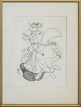GEORGES BRAQUE, GEORGES BRAQUE, etching, unsigned.
