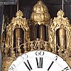A rococo table clock 18th century.