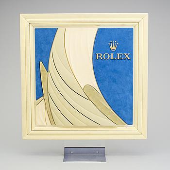 ROLEX, reklamskylt, 48 x 55 cm,