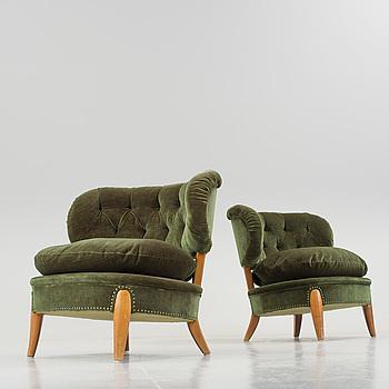 A pair of chairs by Otto Schultz, Jio-möbler, Jönköping.