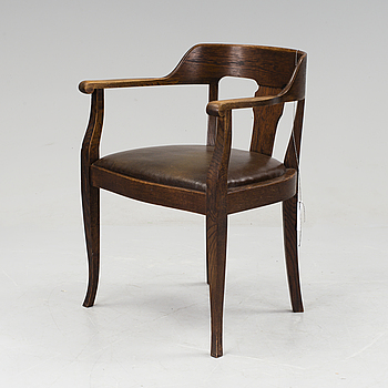 JUGEND, A jugend armchair, early 20 th century.