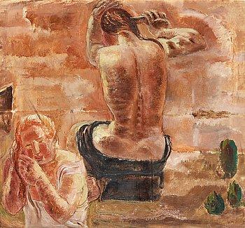 91. Vera Nilsson, Badande.