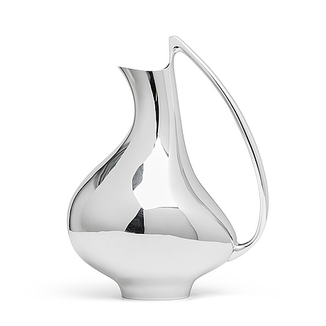 A henning koppel sterling pitcher, design nr 992, georg jensen, denmark.