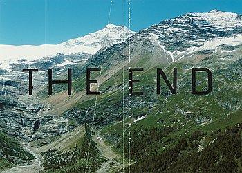 "66. ED RUSCHA, ""The End #87""."