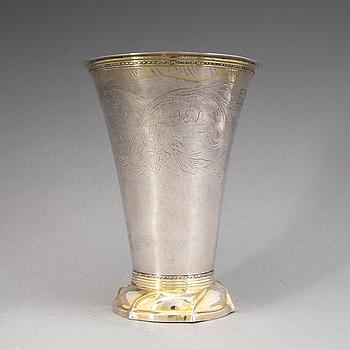 Erik Ernander, bägare, silver, Uppsala 1780.