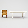 A lot of 22 pieces of doll house furniture by carin backlund, sweden, late 20th century