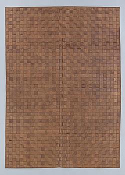 CARPET, leather, late 20th century. 240 x 169 cm.