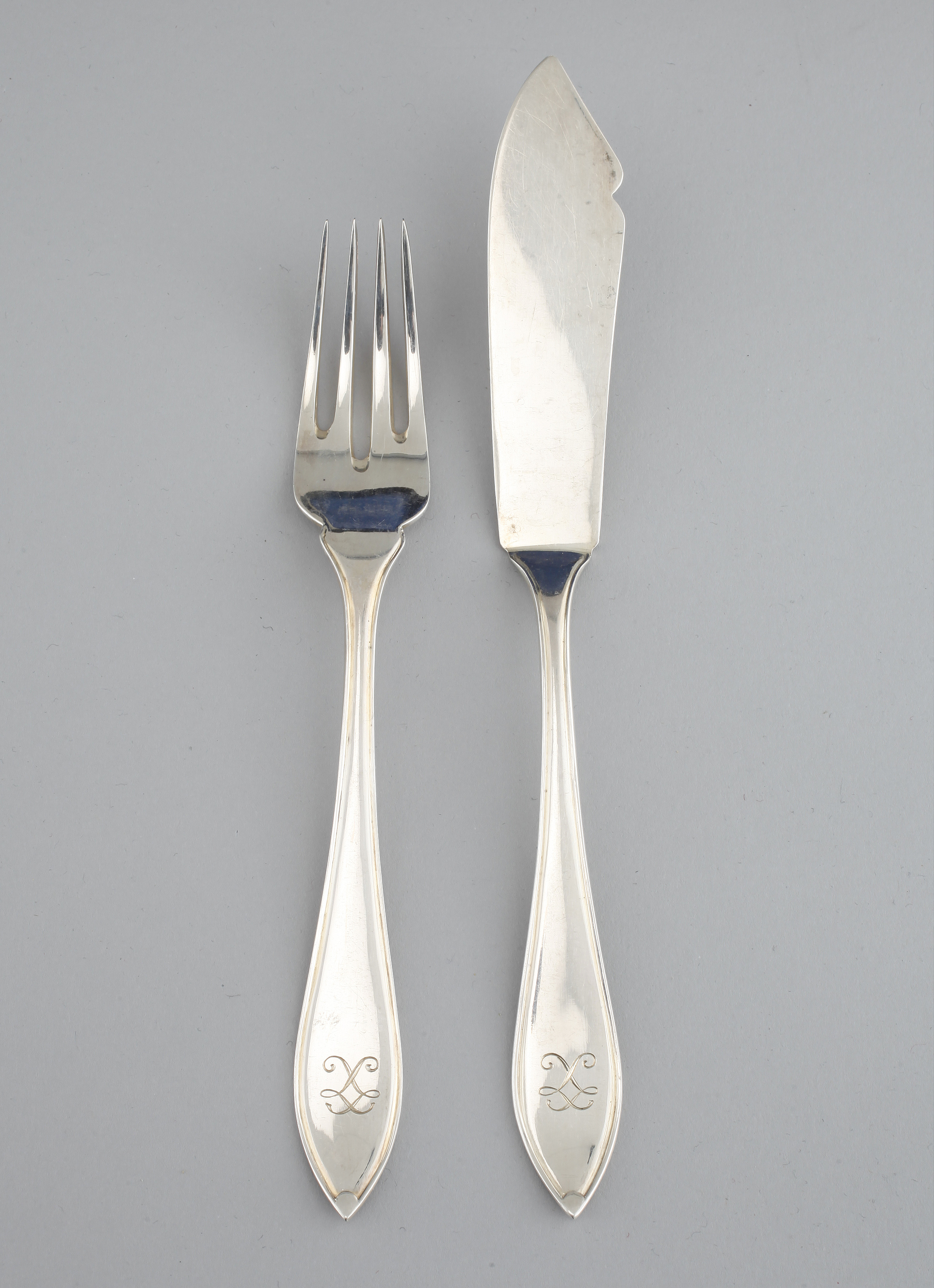 24 pieces of silverware, MAB, Stockholm, 1930  Weight 911 g