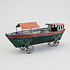 A tinplate boat late 19th century.