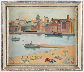 EINAR JOLIN, EINAR JOLIN, canvas, signed and dated 1945.