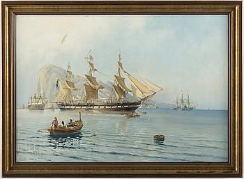 HERMAN AF SILLÉN, olja på uppfodrad duk, signerad H. af Sillén och daterad 1888.