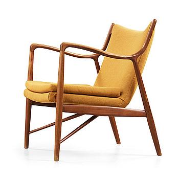 A Finn Juhl 'NV-45' easy chair by Niels Vodder, Denmark 1940-50's.