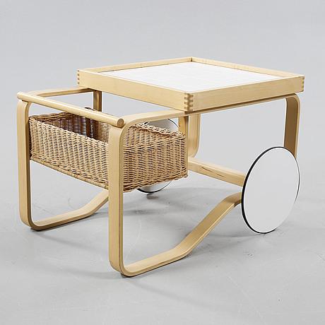 An alvar aalto serving trolley, model 900, made by artek, designed 1937, made around year 2000.