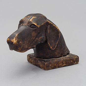 A CARVED WOOD SCULPTURE, marked P. Krüger, the first half of the 20th century.