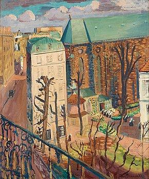 """93. Isaac Grünewald, """"Paysage (le couvent)""""."""