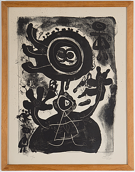 JOAN MIRÓ, lithograph, 1948-49, signed Miró, dated 1948 and numbered 48/50 in pencil.