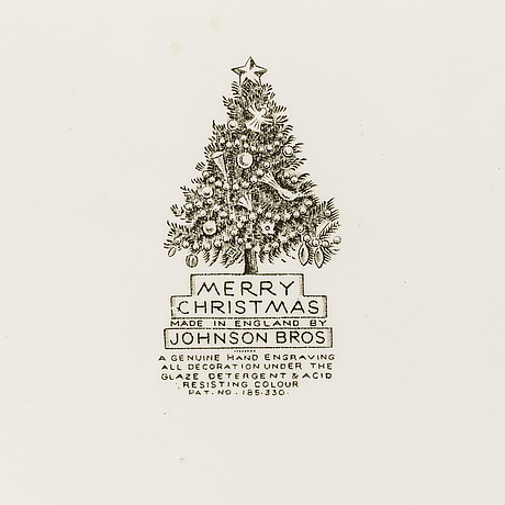 A 38 pieces christmas service by johnson & brothers.