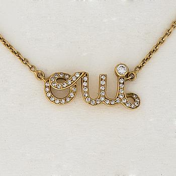HÄNGE, Dior Ouí, briljantslipade diamanter, 18K guld.