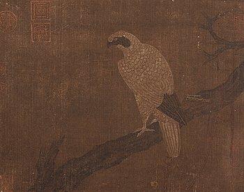 """428. ALBUM, med 6 MÅLNINGAR/FRAGMENT. """"Bei Song jing hua ce"""", Qing dynastin, troligen 16/1700-tal."""