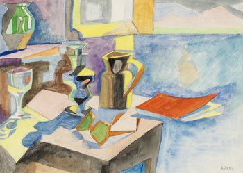 246. André Lhote, Still life with glasses.