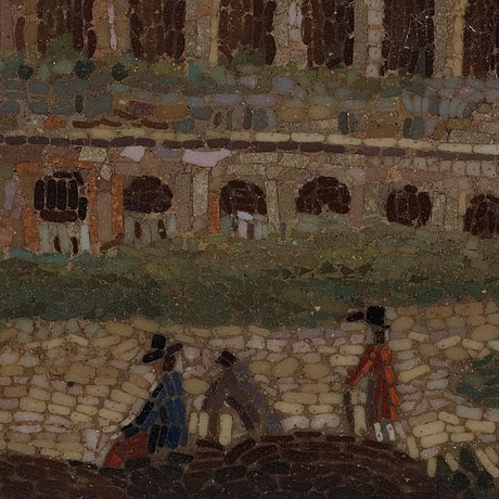 An italian micromosaic plaque, probably first half of 19th century.