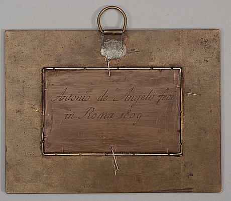 An italian micromosaic plaque by  antonio de angelis, rome 1809.
