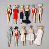 A lot of eleven barbie dolls, mattel, 1960s