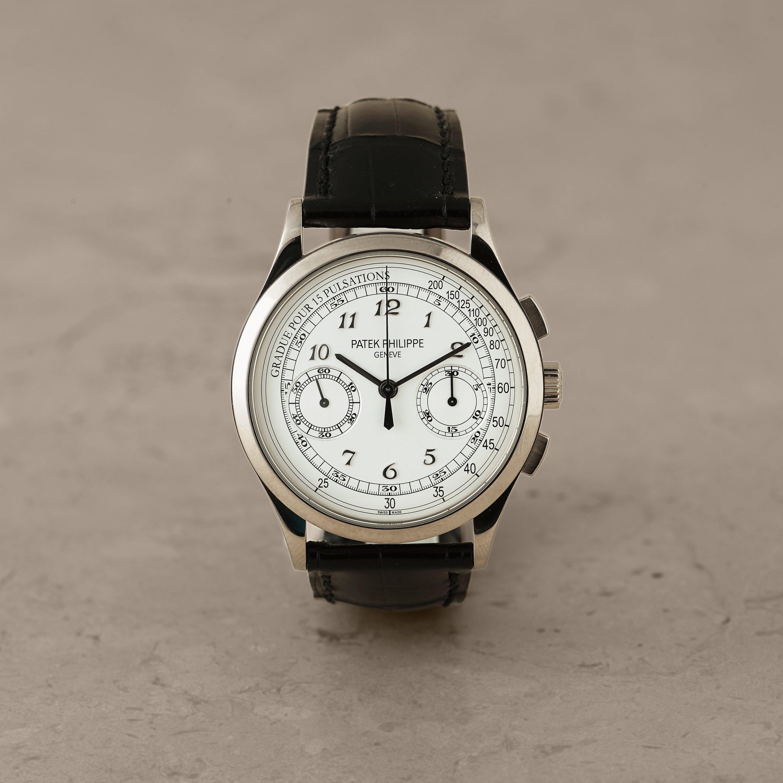 Patek philippe geneve chronograph gradue pour 15 pulsations wristwatch 39 4 mm bukowskis for Patek philippe geneve