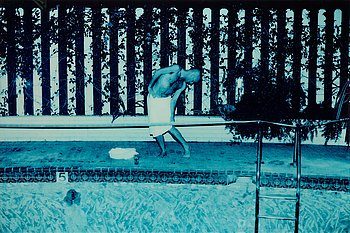 ANTON CORBIJN, fotografi signerat Anton Corbijn på etikett a tergo. Upplaga 3/8.